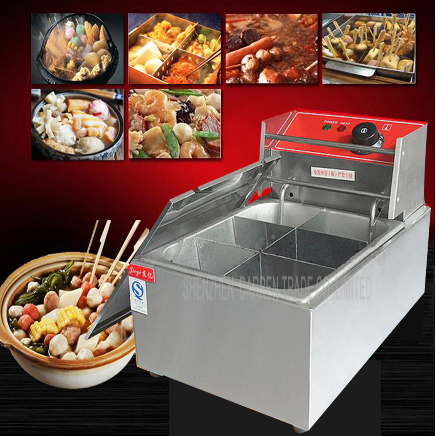 1PC FY-15 Electric multi-functional commercial Single cylinder kanto cooking machine Snack equipment cooking pot commercial 2 cylinder 18 frames electric kanto cooking machine snack equipment cooking pot oden machine110v 220v
