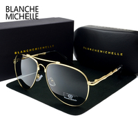 2017 High Quality Memory Metal Sunglasses Men Polarized UV400 Pilot Sun Glasses Brand Designer Retro Driving
