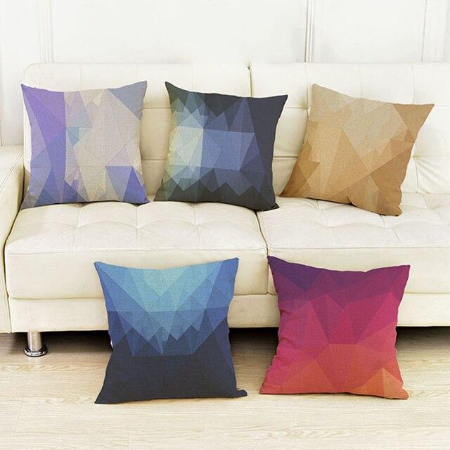 9 Kleuren Geometrische 3D Diamond Print Kussen Woonkamer Moderne ...