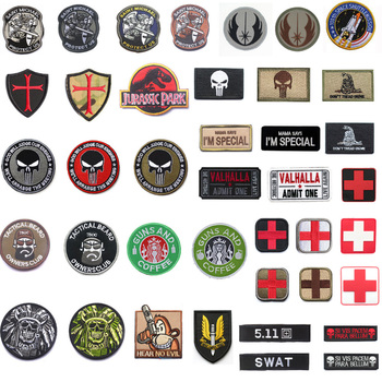 Wholesale Embroidered Military Patch Stripe Tactical patches for Clothing Backpack Armband stripes with Hook Loop embroidered patches united states new york state flag patch tactical 3d national flags army armband badge