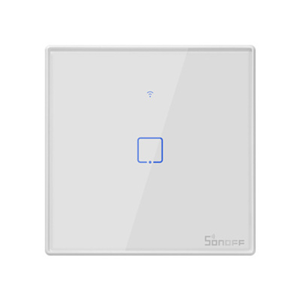 SONOFF T2EU TX Smart Wifi Touch Wall Light Switch With Border Smart Home 1/2/3 Gang 433 RF/Voice/APP Control Works With Alexa