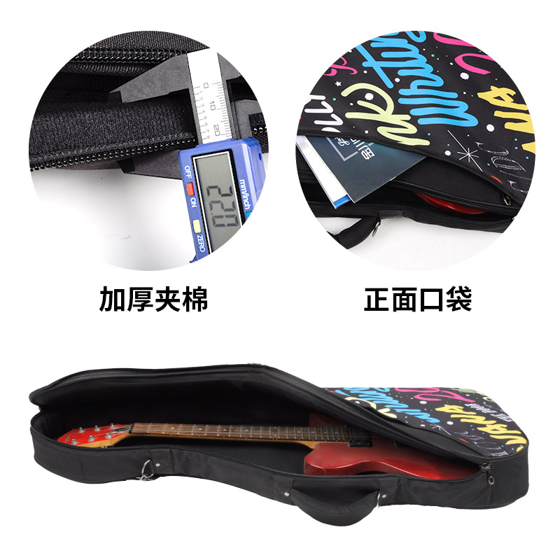 Electric Guitar Bag Personality Rock Electric Guitar Backpack Thickened Electric Guitar Bag Can Carry Back Piano Bag shoulders thickening ballad guitar bag wooden guitar backpack 41 inch waterproof guitar electric bass bag electric guitar bag