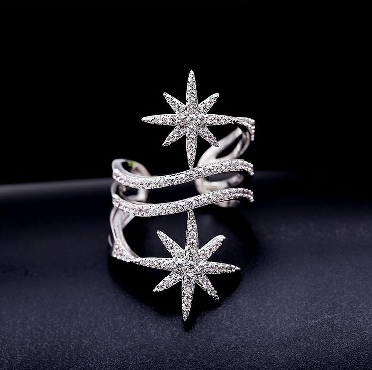 LZX Лакшери обручальное кольцо белого/черного золотистого цвета глиттер элегантный кубический цирконий Свадебные Кольца для женщин модные вечерние ювелирные изделия