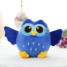 about 35cm lovely cartoon blue owl plush toy soft doll birthday gift,Xmas gift c808