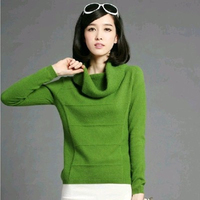 Cashmere Sweater Collar Female Genuine Autumn And Winter Long Sleeved Sweater Short Size Lapel Sweater Free
