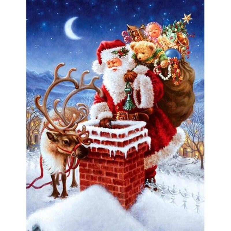 NOUS VOILA ....NOEL 2017 Home-decor-Diy-3D-diamond-painting-Santa-Claus-gift-cross-stitch-kits-square-drill-full-laid