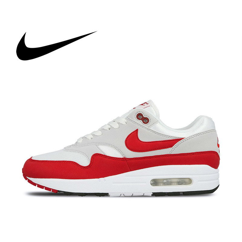 Original Authentic Nike AIR MAX 1st Anniversary Men's Running Comfortable Outdoor Breathable Sports Shoes Classic 908375-103