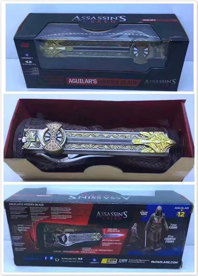 ALEN Movie Assassins Creed 7 Hidden Blade Gauntlets Edward Kenway Cosplay Weapon 1:1 PVC Action Figure Model Toy 22cm фигурка assassin s creed iv edward kenway master of the seas 45 см