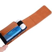 Tuval Deri Elektronik Sigara Aksesuarla iQOS Elektronik Sigara için Taşıma çantası Koruyucu Kılıfı Çanta kılıfları