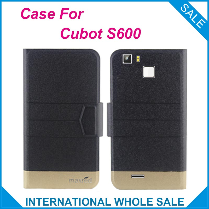 5 Colors Hot! <font><b>S600</b></font> <font><b>Cubot</b></font> Case,2016 New Fashion Business Magnetic clasp Ultrathin,High quality Flip Leather Case For <font><b>Cubot</b></font> <font><b>S600</b></font> image