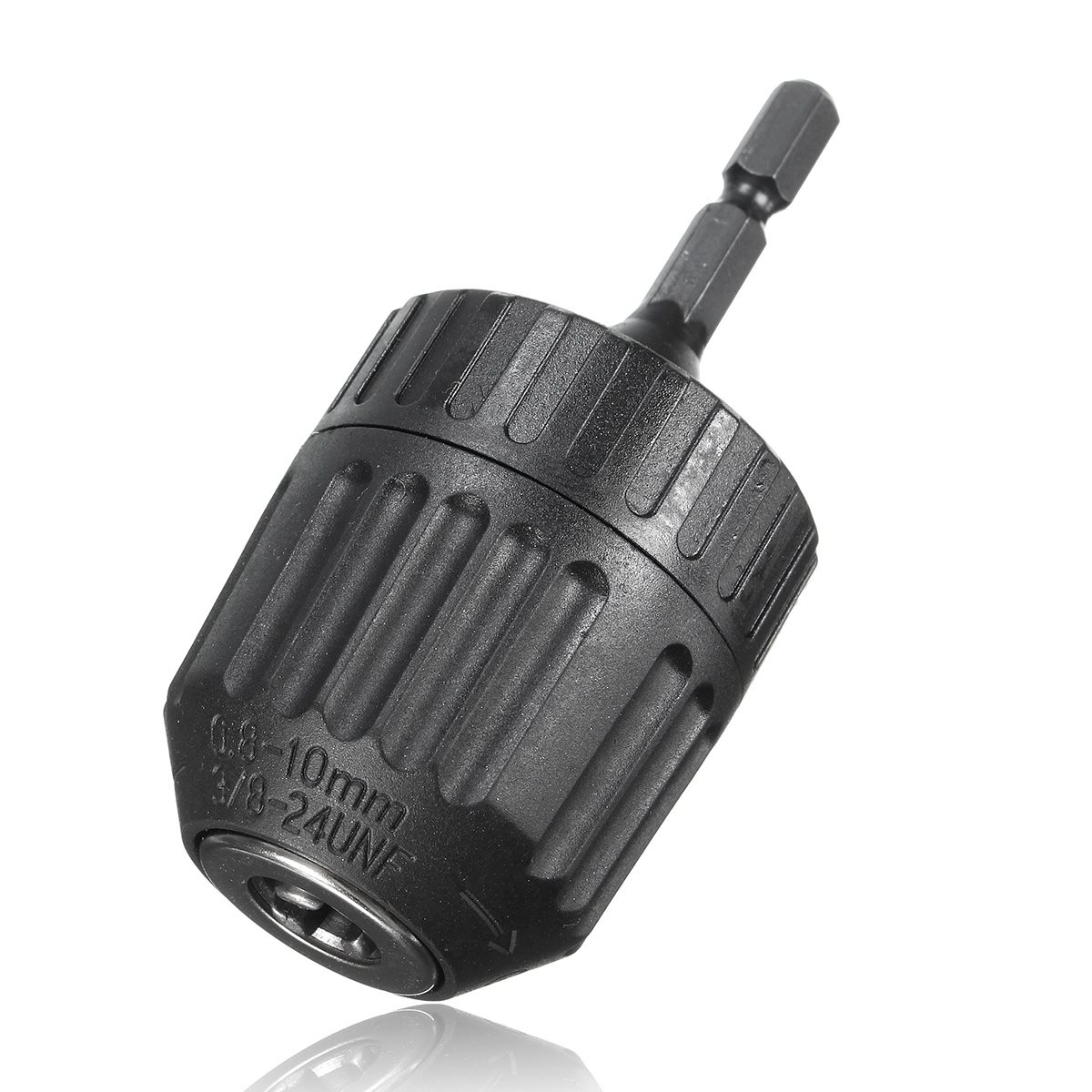 1PC 0.8-10mm Keyless Mini Drill Chuck Adaptor Converter 3/8 24UNF + 1/4 Hex Shank SDS Power Tool Accessories new rotary b12 hammer drill chuck tool cap 1 5 10mm 3 8 mount 3 8 24unf converion sds shank adapter