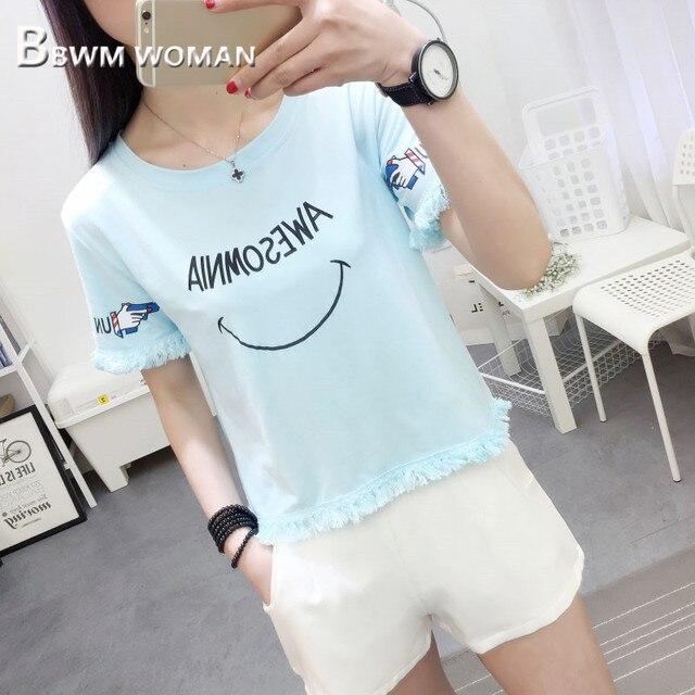 Summer Tassel Women T Shirt...