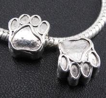 100pcs Tibetan Silver Cute Claw Charm Large Hole Beads Fit European Bracelets 11*10mm 0218