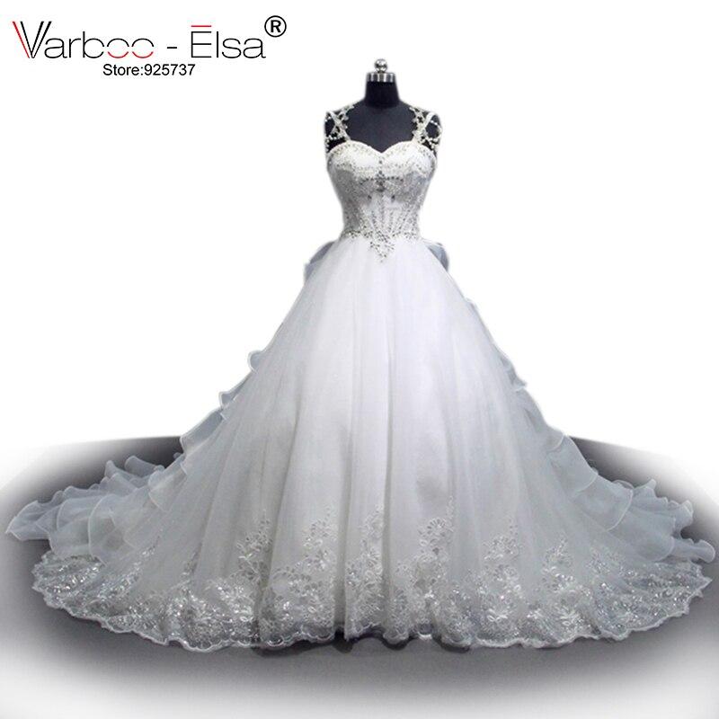 VARBOO_ELSA Sweetheart Crystal Pearl Luxury Wedding Dress