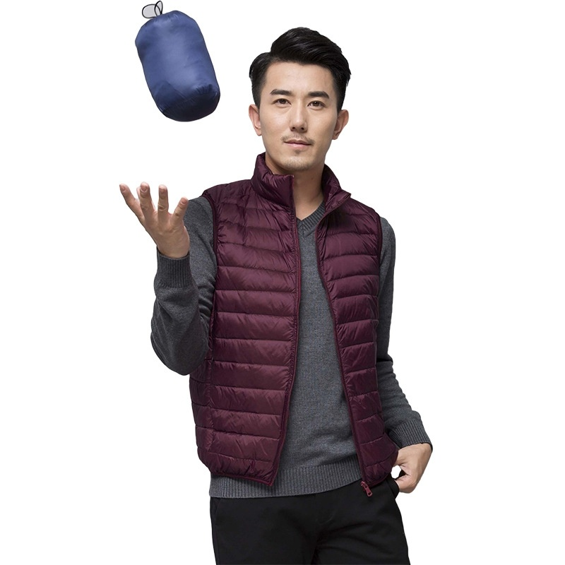 ZOGAA 2019 New Men's Sleeveless   Down     Coats   Ultralight White Duck   Down   Warm Fashion Jacket Men's Casual Outwear Slim Waistcoat