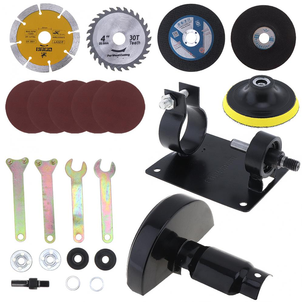 17pcs/set 13mm Electric Drill Cutting Seat Conversion Tool Accessories with Grinding Wheel for Grinding / Cutting Tile