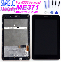 7 inch for ASUS Fonepad ME371MG ME371 K004 LCD Display Matrix Screen Touch Panel Digitizer Assembly with Frame + Free Tools new 7 inch ips lcd display screen n070icn gb1 nnolux wxga 800 1280 rgb for asus fonepad hd7 me175 me372 free shipping