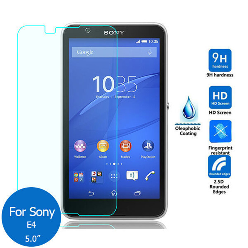 Tempered Glass For Sony Xperia E4 E4G E2104 E2105 E2003 Dual E2033 E2053 E2114 E2115  Screen Protector Protective Film Guard