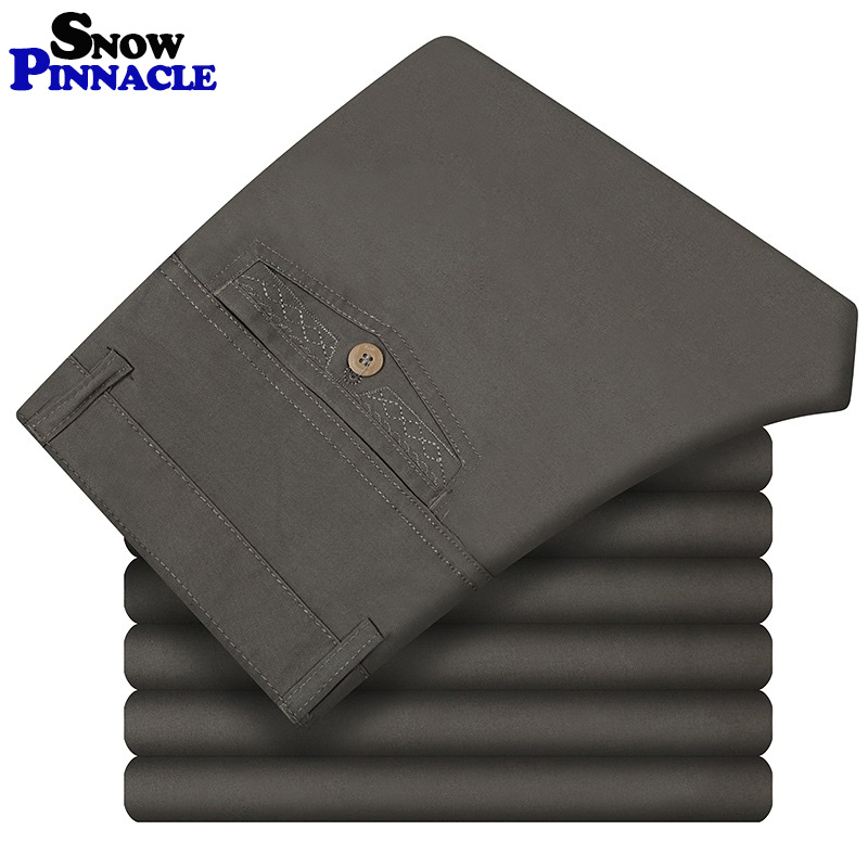 Pants Men Size29-42 Spring Summer Straight Pant 100% Cotton 55-120kg Men Wear Comfortable warm Trousers Male Clothing(China)