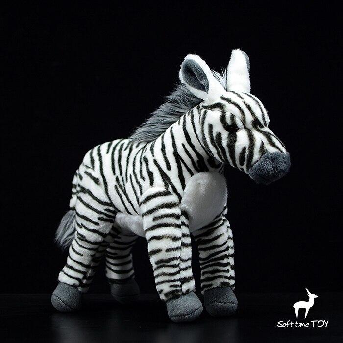Poupée zébrée debout vraie vie jouets en peluche poupées zébrées africaines cadeaux d'anniversaire grand magasin de peluches