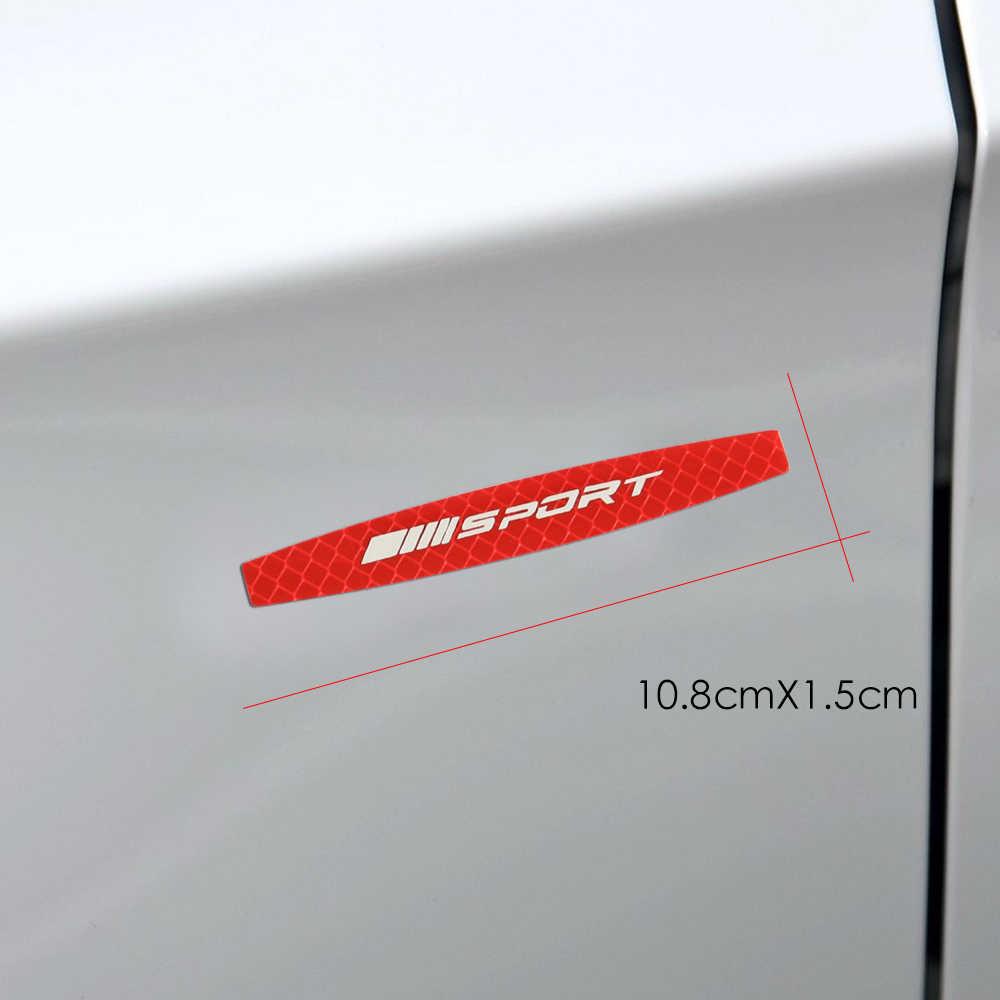 Светоотражающая лента для автомобиля, передняя сторона, крыло, наклейка, эмблема, значок, наклейка для A C, E, S, CLA, класс w205, w204, c63, AMG, спортивные аксессуары