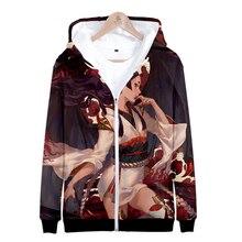 LUCKYFRIDAYF K-pop Onmyoji 3D Hoodies Women/Men Printed Thicker Fluff Warm Fashion Chinese Zipper Sweatshirt Coat Sudadera