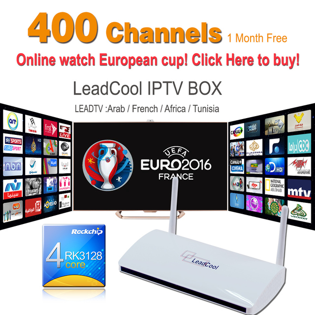 Quad Core S805 Android Arabic & French IPTV Box 400 Live TV Channels HD Live Arabic Sports French Canal+ Cine Free Shipping