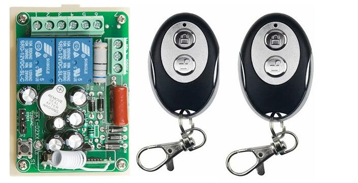 New AC220V 2CH Wireless Remote Control Switch System 1*Receiver + 2 *ellipse shape Transmitters for Appliances Gate Garage Door new 2 transmitters