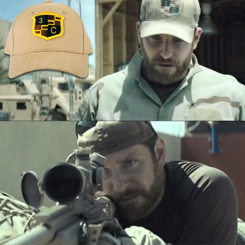 American Sniper Cap Hut Army Chris Kyle Hat Navy Seal Team 3 Charlie Cadilac Cap Shooter Special Force Military Tactical Cap
