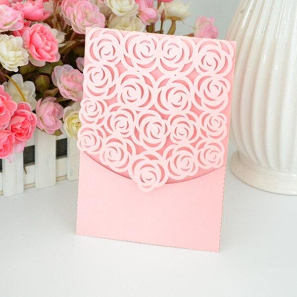 wedding invitation pockets laser cut pocket fold invitations romantic rose pocket invitaion and greeting card