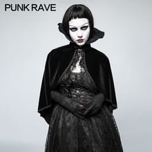 PUNK RAVE Women Gothic Vintage Palace Positioning Necktie Cloak  Cosplay Coat Victorian Evening Party Woolen