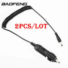 2Pcs Cable Line Baofeng Uv-5r Car Charge 12v For BF UV-82 UV-5REPlus BF-888S Uvb2 Plus TG-UV2 charger Walkie Talkie Accessories