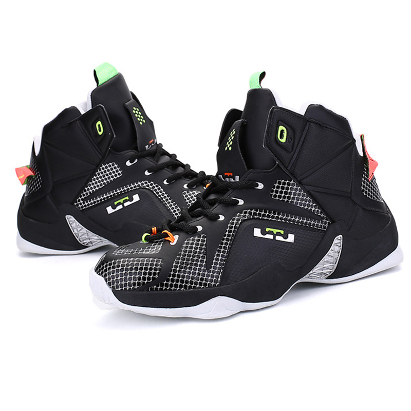 2017 High Top Men Basketball Shoes Male Outdoor Sports Sneakers Athletic Basketball Boots 308 ld655 iverson basketball shoes male adolescents spring low help iverson war boots light wear antiskid sports shoes