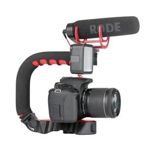 Image 3 - Ulanzi estabilizador con soporte de zapata fría Triple u grip, equipo de agarre para estudio fotográfico con micrófono para Dslr, Nikon, Canon, Smartpho