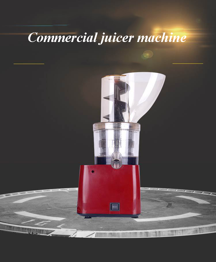Commercial industrial grade juicer machine 123mm caliber orange juicer without hand push Screw Extruder Apple Juice