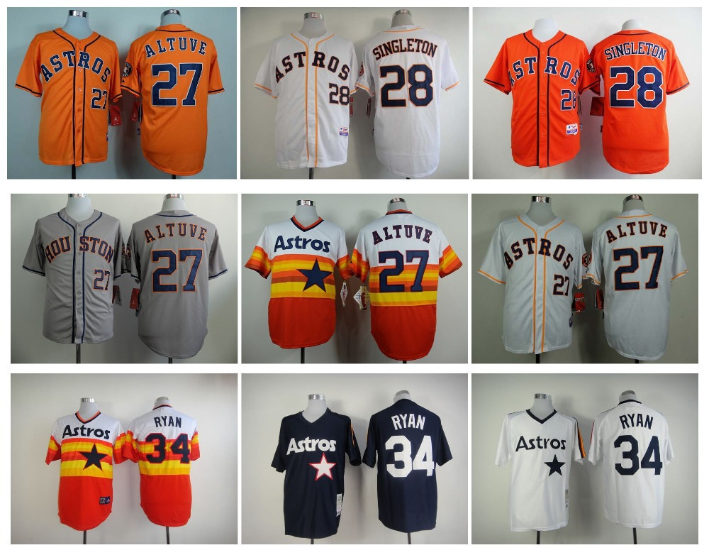 finest selection 7cab3 456a4 Men's Houston Astros Jerseys 27 Jose Altuve Jersey 28 Colby ...