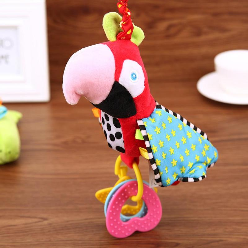 Plush Toy Baby Infant Cartoon Animal Birds Style Soft PP Plush Rattles Bed Crib Stroller Music Handbell Sleeping Toy Gift