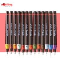 Rotring poroso ponto caneta isograph reenchido tinta desenho caneta 0.1mm 1.0mm agulha gancho linha caneta 1 peça|Marcadores da arte|   -
