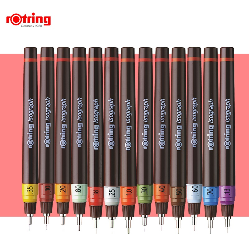 Rotring Porous-point Pen Isograph Refilled Ink Drawing Pen 0.1mm-1.0mm Needle Hook Line Pen  1 Piece