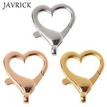 5 Pcs Love Heart Shape Lobster Buckle Keychain Pendant Alloy Jewelry Accessories DIY Metal Material