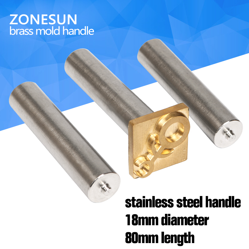 ZONESUN Stainless steel Leather wood brass mold  handle, punch handle, leather stamp mold, wood stamp mold hammer handle ka 14 00011 cute smily beech handle stainless steel fork wood color silver