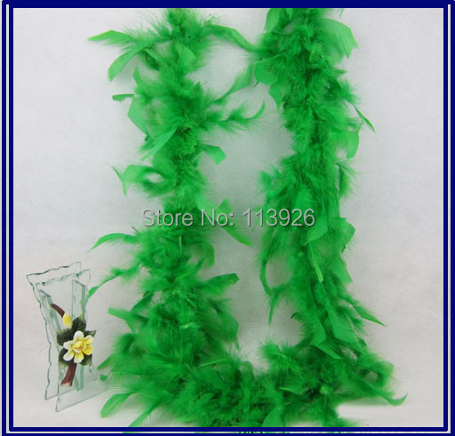 Free shipping 2Meters long 5pcs/lot green turkey FEATHER BOA Costumes/Trim for Party/Costume/Shawl/Craft