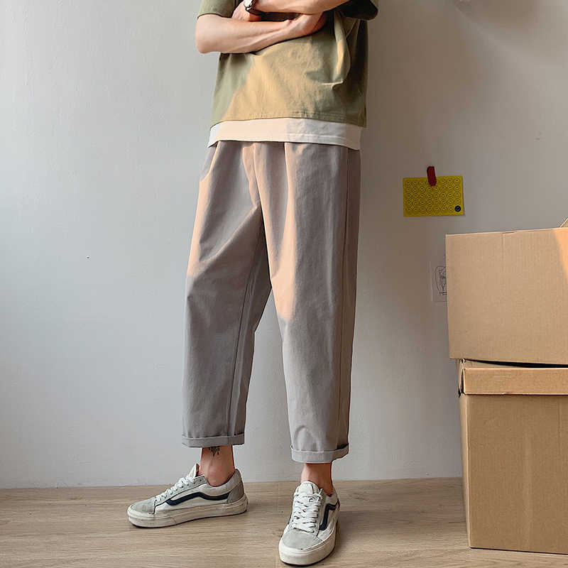 2019 الصيف الرجال الترفيه القطن سراويل تقليدية الذكور العلامة التجارية هارين السراويل سراويل فضفاضة النشطة مطاطا سروال ملون لون أحادي حجم M-2XL