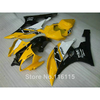 Injection molding ABS fairing kit for YAMAHA YZF R6 2006 2007 yellow white black high quality fairings set YZF R6 06 07 RF27