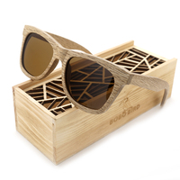 New Fashion Sun Glasses For Men And Women Polarized Retro Wooden Sunglasses Vintage Red Wood Frame