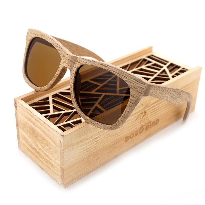 BOBO PÁSSARO dos homens óculos de Sol Marca de Luxo Designer de Espelho  Polarized Lens Óculos De Sol de Madeira de Madeira oculos de sol masculino  2017 4d3222827d