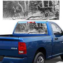 Deer Hunting Back Window Stickers Rear Graphic Decal Forest Animals Sticker for Truck SUV