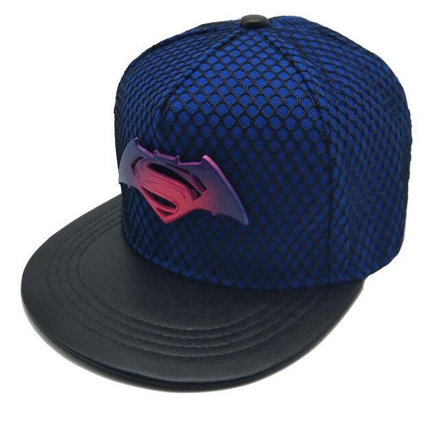 Nuevo Metal Batman Superman Unisex gorra de béisbol hombres mujeres  Snapback Outerdoor sombreros Hip Hop gorras 099d537347a