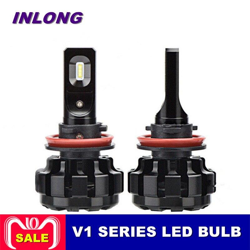 Inlong 2 Pcs Voiture Phare H7 H4 H8 H11 H1 880 9005 9006 50 W 8000LM LED Auto Phare 6000 K Lumière Ampoule 12 V 24 V Voiture Accessoires