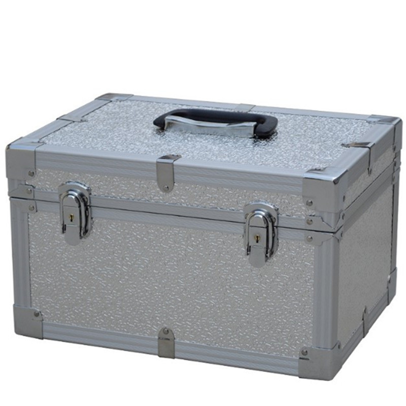 Tool case toolbox suitcase bag Impact resistant waterproof Aluminum frame ABS security equipment with precut foam travel luggage
